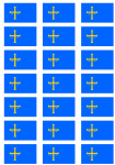 Asturias Flag Stickers - 21 per sheet